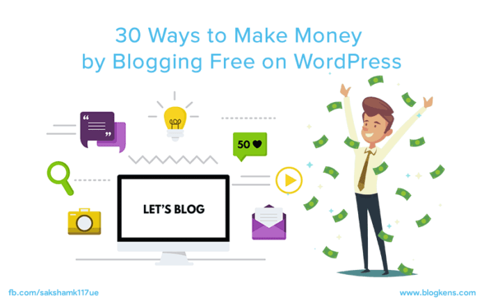 How to Make Money by Blogging on Wordpress Free: 30 Ways